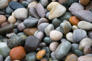 Pebbles on the coast